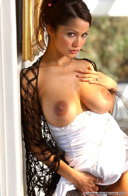 Hot French Brunette Alley Bagett Looks Majestic in her White Dress - 10
