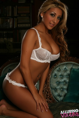 Sophia in A Little White Lace for Alluring Vixens - 03