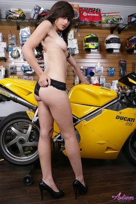 Autumn Riley and her Ducati - 10