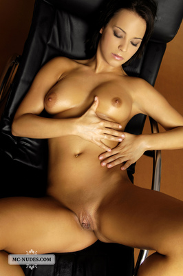 Nice Babe In A Leather Chair - 14