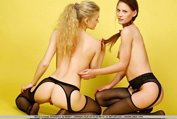 Met-Art Lesbians BELLA A & ASHANTI A BY INGRET - DECAEDRIAS - 03