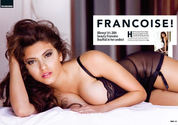 Busty Brit Mainstream Model Francoise Boufhal - 07