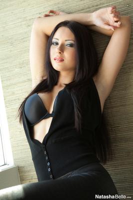 Natasha Belle in Tight Black Pants - 13