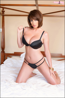 Sophie Howard Teasing In Bed via PinupFiles - 01