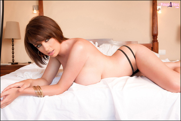 Sophie Howard Teasing In Bed via PinupFiles - 08