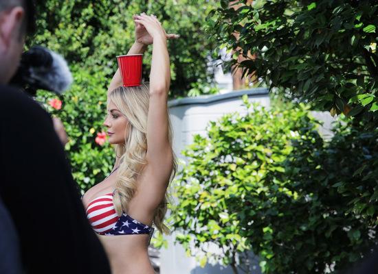 Busty Playmate Lindsey Pelas Celebrates July 4th - 12