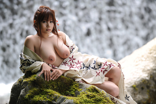 Japanese AV Model Kanon Ohzora Exposing her Floppy Tits for SexAsian18 - 12