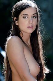Brunette Teen Elena Posing Nude For Sun Erotica