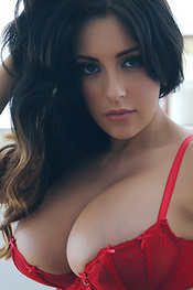 Ashley Emma In Red Lingerie