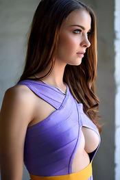 Emelia Paige Tight Purple Dress