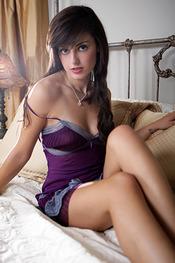 Autumn Riley in Purple Dress
