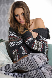Busty Emma Frain Sexy Winter Fashion