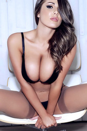 Lucy Pinder Showing Off Her Noobs