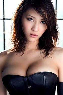Busty Japanese AV Model Asana Mamoru in Varios Shots for SexAsian18