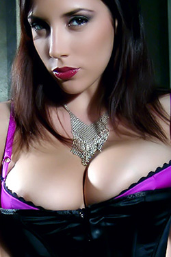Jelena Jensen in Purple Corset for Misha Online