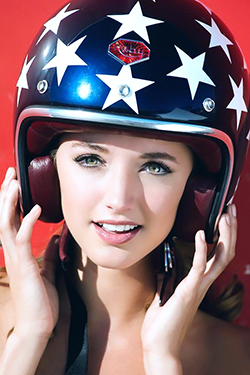Alyssa Arce in Red Ferrari for Playboy