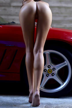 Nude Melinda With FerrarI Maranello For Hegre Art