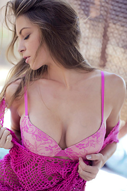 Amber Sym In Pink Lingerie For The Babes Network
