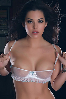 Beautiful Babe Olivia In Her Skimpy Little Sheer Bra For Alluring Vixen