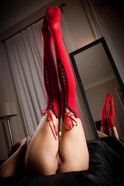 Jane In Red Stockings For Simonscans