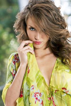 Malena Morgan in Green Dress for Twistys