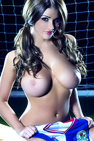 Soccer Fan Lucy Pinder for Playboy Plus