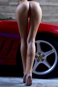 Nude Melinda With FerrarI Maranello For Hegre Art