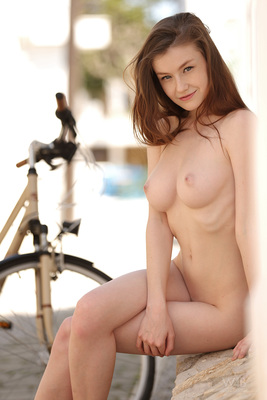 Emily is Sexy on a Bicycle via Watch4Beauty - 09
