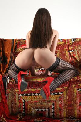 Little Caprice In Sexy Black Stockings Via Watch4Beauty - 08