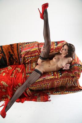 Little Caprice In Sexy Black Stockings Via Watch4Beauty - 10